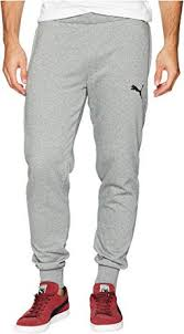 Puma Men S French Terry Jogger Size Chart Puma Basic French Terry Pant Medium Grey Heather Free