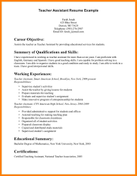 6 Assistant Teacher Resume Affidavit Letter