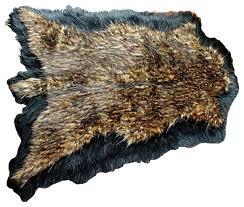 pelt faux fur double bear skin rug
