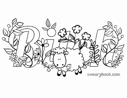Free Swear Word Coloring Pages Printable Coloring