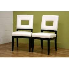 baxton studio faustino white faux leather upholstered dining