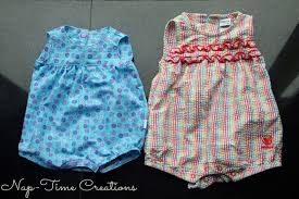 Free Sewing Patterns For Baby Interesting Free Romper Pattern 4848 Months Life Sew Savory