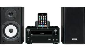 onkyo bookshelf stereo system. onkyo cs-445 iphone® not included bookshelf stereo system