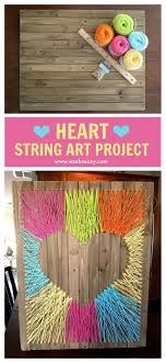 Easy, Fun and Colorful Heart String Art Craft that adds the perfect pop of  color