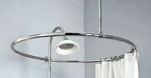 bathroom impressive square shower curtain rail ideas circular rod for tub bath croydex and rings fancy