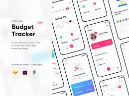 Money Tracker Budget Tracker Financial App Ui Kit Sketch Xd Figma By