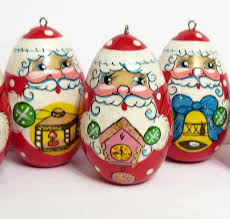 Russian Santa Ornaments - Ornaments Sets - Russian Crafts