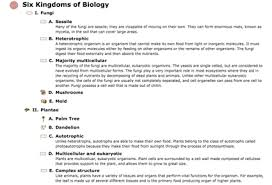 use these science examples to integrate into your life science outline classification of six kingdoms