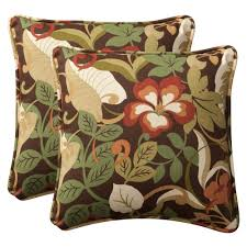 amazoncom pillow perfect decorative browngreen tropical toss