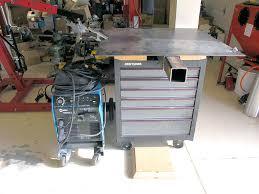 welding station with my miller synchrowave tig welder