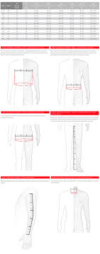 Dainese Size Chart Dainese Mens Size Chart