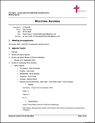 Basic Meeting Agenda Template Free Church Meeting Agenda Template Sample Vesnak 11