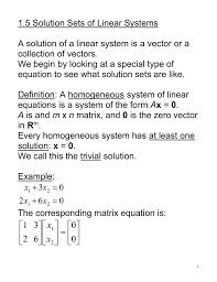 1 5 solutions sets of linear systems doc