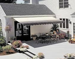 details about sunsetter motorized retractable awning 12 x 10 ft outdoor deck patio awnings
