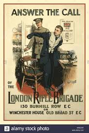 the office poster. Vintage 1915 UK WW1 Lithograph Recruitment Poster \u0027Answer The Call Of London Rifle Brigade Office