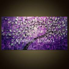 free shipping 100 hand painted oil painting abstract wall art background and silver flowers purple home decoration in painting calligraphy from home  on lavender colored wall art with free shipping 100 hand painted oil painting abstract wall art