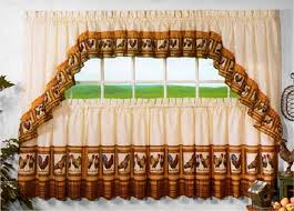 image of rooster curtains for kitchen