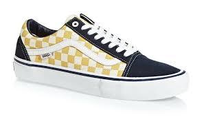 Vans Old Skool New Design Vans Otw Old Skool Pro Checkerboard Skate Shoes Navy Gold Mens Sz 9 5 New