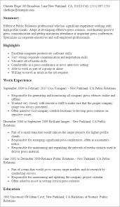 Public Relations Resume Template All Best Cv Resume Ideas
