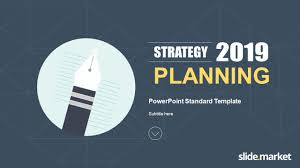 Planning A Presentation Template Strategy Planning Powerpoint Template Slide Market