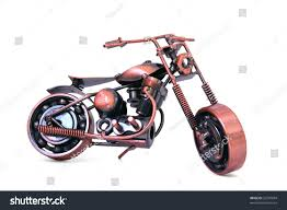 handmade model custom motorcycle copper scale stock photo 32247094