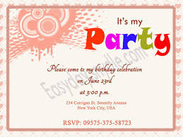 welcome party invitation wording birthday invitation wording easyday