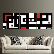 >red black white design modern abstract wall art decor for living  red black white design modern abstract wall art decor for living room framed unframed ash