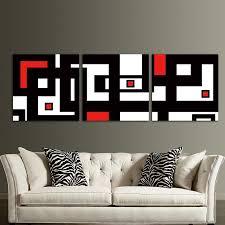 red black white design modern abstract wall art decor for living room framed unframed ash on black white framed wall art with red black white design modern abstract wall art decor for living