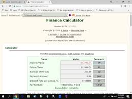 here s what the calculator showed me