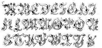 Alphabet Moyen Age Moyen Ge Coloriages Difficiles Pour