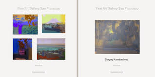 the gallery exhibits modern and contemporary art landscape painting sergey konstantinov fine art gallery san francisco