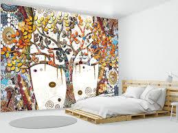 Fotomurale ALBERO DELLA VITA KLIMT COLORATO carta da parati murales foto  quadro famoso opera arte - Luxart