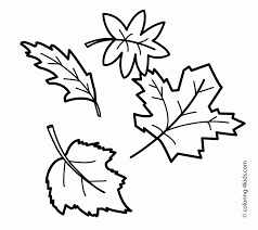 39 Fall Coloring Pages Printable Free Easy Preschool Fall Leaves
