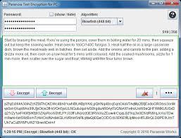 paranoia text encryption s s e file