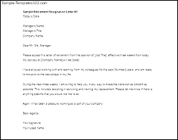 Sample Letters Of Retirement Letter Retirement Samples Of Resignation Due To Clients Printable