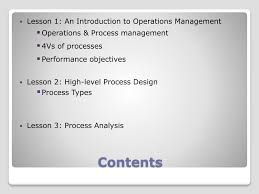 Process Design And Analysis In Operations Management Ppt Operations Management Part 1 Powerpoint Presentation