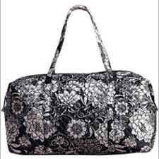 43% off Avon Handbags - Black and White Floral Quilted Duffle Bag ... & Black and White Floral Quilted Duffle Bag Adamdwight.com