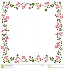 Flower Edge Design Abstract Flower Diamond Edge Floral Pattern Design Stock