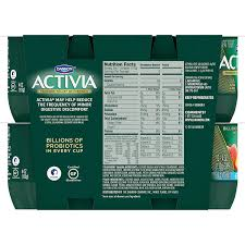 Activia Light Sugar Content Dannon Activia Lowfat Yogurt Strawberry Banana Peach Variety Pack 4 Ounce Pack Of 12 Probiotic