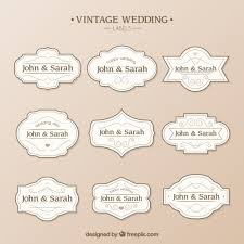 Wedding Label Templates Wedding Labels Template Vector Free Download