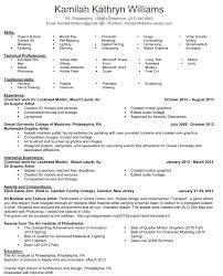 Art Resume Format Arts Sample Certified Artist 3d Photo