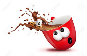 hot chocolate mug clipart. a christmas mug with spilling hot chocolate and marshmallow surfing it. stock photo - clipart