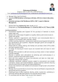 Procurement Manager Resume Beautiful Procurement Manager Resume