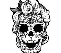 Small Picture Day Of The Dead To Print And ColorOfPrintable Coloring Pages