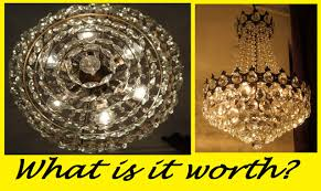 showing a french basket style crystal chandelier lamp 1940s what it is worth