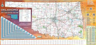large detailed road map of oklahoma