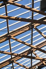 architecture sky window glass roof building beam ceiling line mast metal frame skylight facade roofing beams
