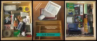 Design Ideas Squish Drawer Stores Silver Lining Organizders Llc Junk Drawer Organization In