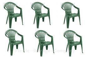 vidaxl 6x reclining garden chairs