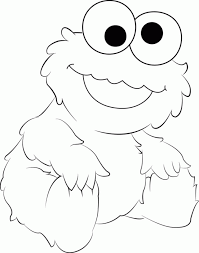 Small Picture Cookie monster coloring pages eating cake ColoringStar